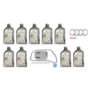 8-Speed Auto Tranmission Fluid With Filter Audi A4 A6 A7 A8 Q5 (G060162A2 / 0BW398009A)