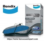 BENDIX METAL KING REAR BRAKE PAD FOR HONDA CITY T9A (2013>) TMO (2008>) SEL (2005>) JAZZ SAA (2003>) CIVIC SR4 (1992>) SO4 (1996>)