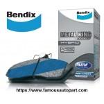 BENDIX METAL KING FRONT BRAKE PAD FOR HONDA CITY T9A (2013>) TMO (2008>) / JAZZ T5A (2014>) S5A (V-TEC) / CRZ / INSIGHT / BRV / FREED