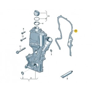 Timing Case Gasket Volkswagen Beetle Golf Polo Scirocco Tiguan Touran 1.4 TSI (03C109287G)