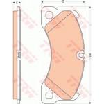 FRONT BRAKE PAD FOR PORSCHE CAYENNE / VW TOUAREG / AUDI (GDB1774)