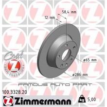 ZIMMERMANN REAR BRAKE DISC ROTOR (X2) FOR AUDI TT (2008 - 2014) (8J0615601)