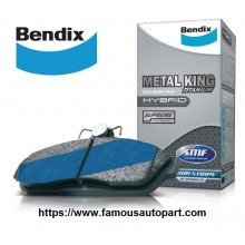 Bendix Metal King Rear Brake Pad For Toyota Vios NCP93 (2008-2012) / Altis ZZE142 (2009-2013)