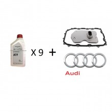 Audi Q7 09D Auto Transmission Filter With ATF X9 Bottles