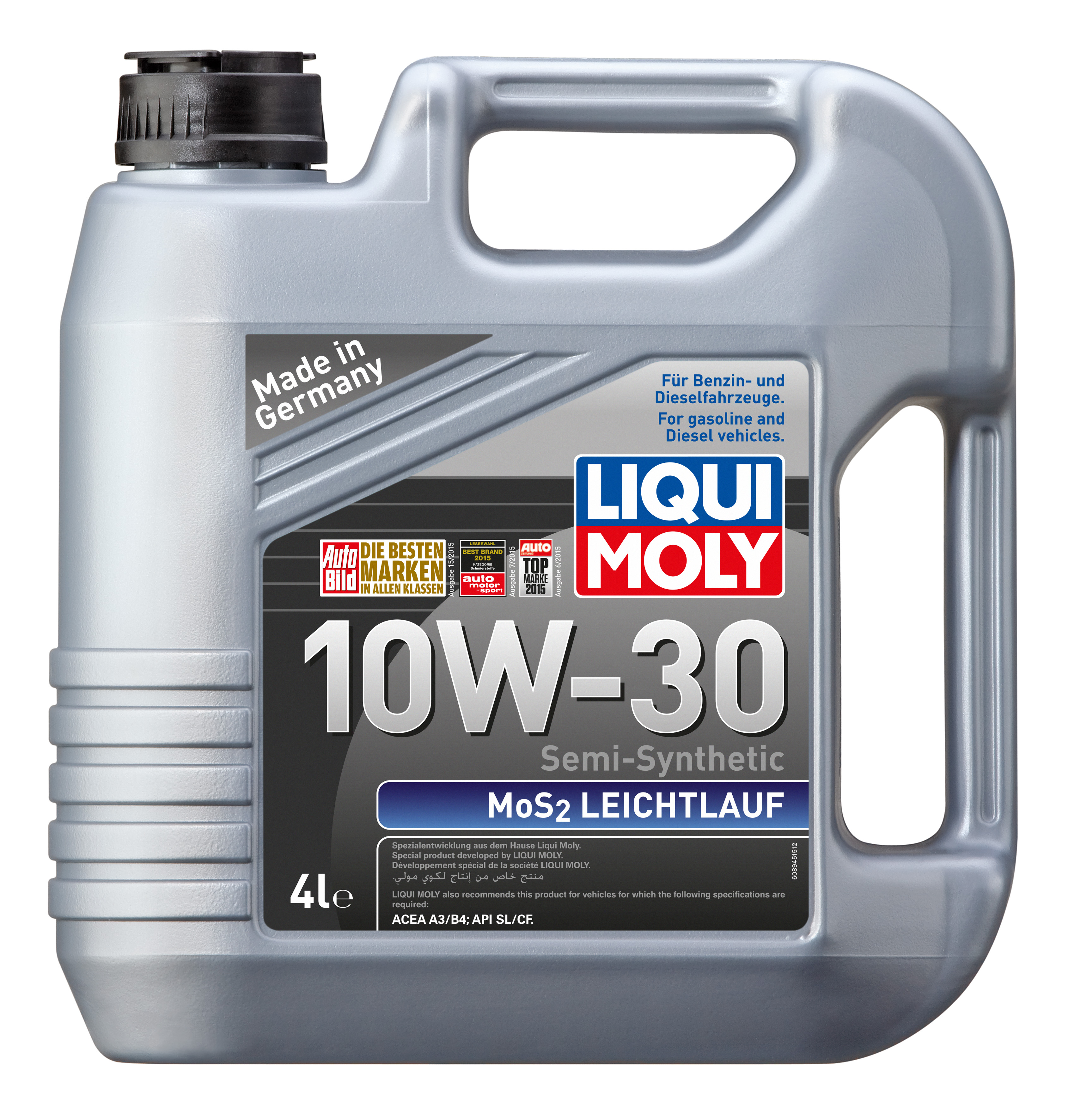 liqui moly mos2 leichtlauf 10w 30 4l. Black Bedroom Furniture Sets. Home Design Ideas