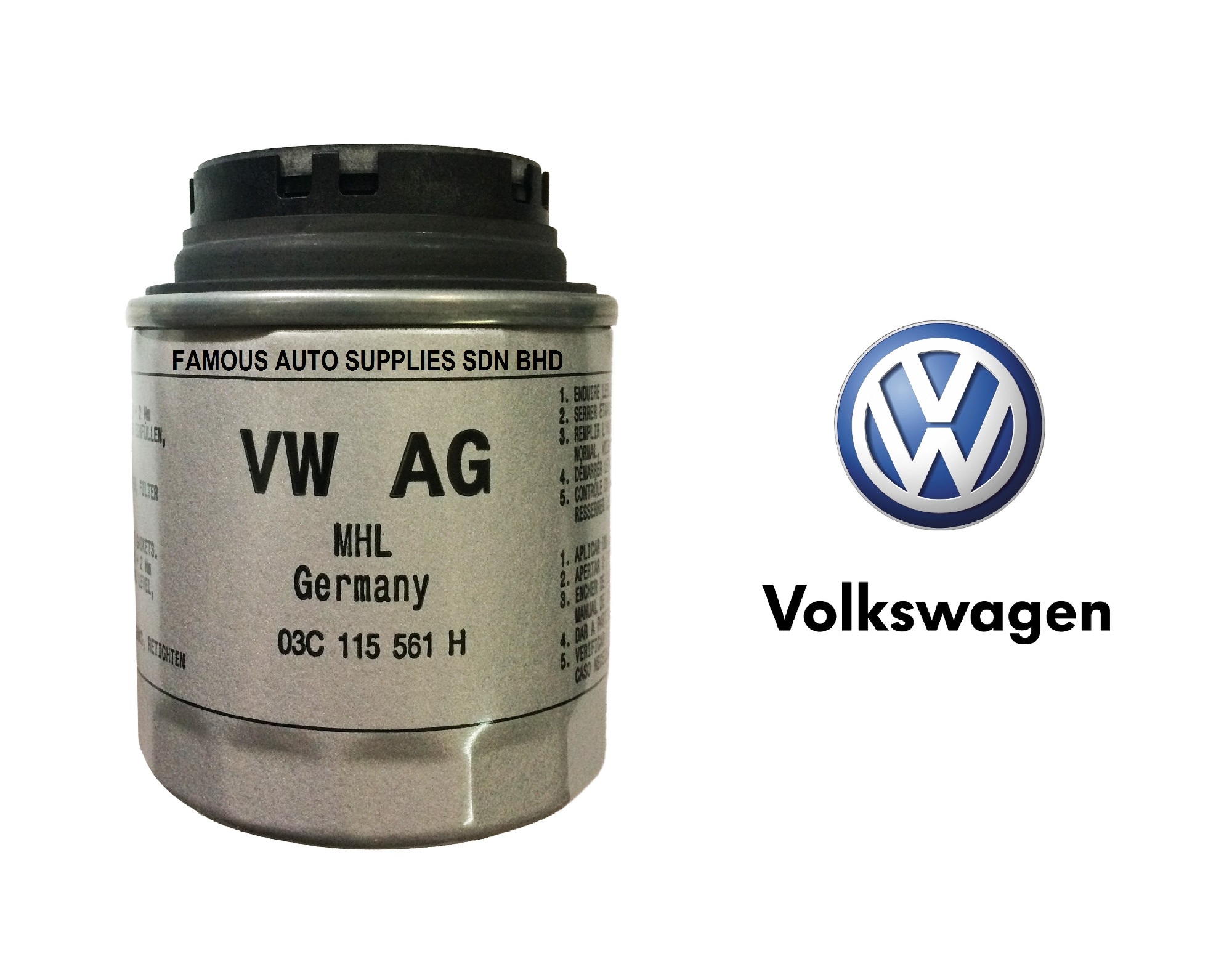 Volkswagen Golf Jetta Beetle Tiguan 1 4 Tsi Oil Filter 03c